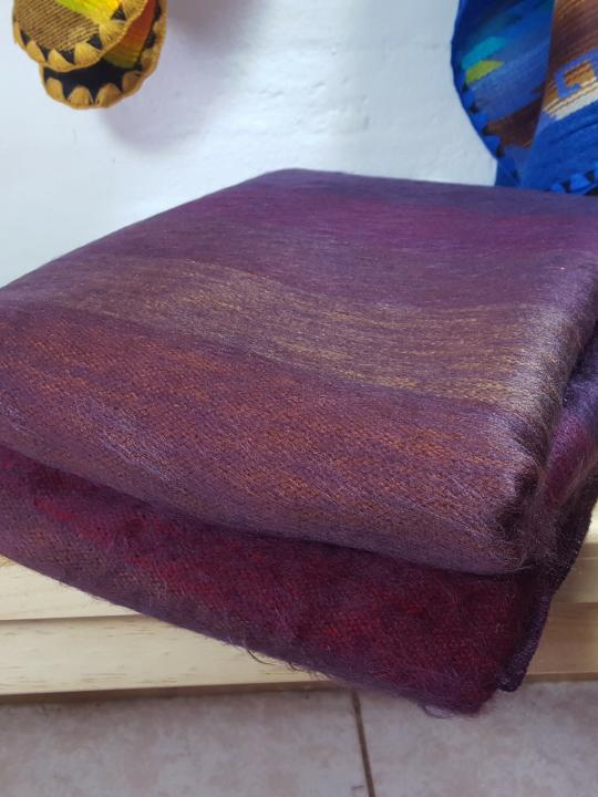 Alpaca Blanket Shutter Grape