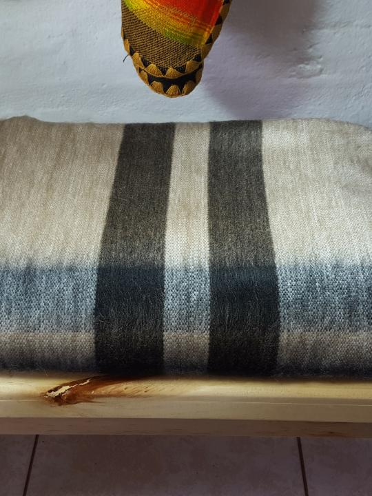 Alpaca Blanket Light Brown