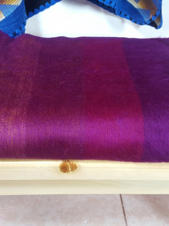 Alpaca Blanket Shutter Purple