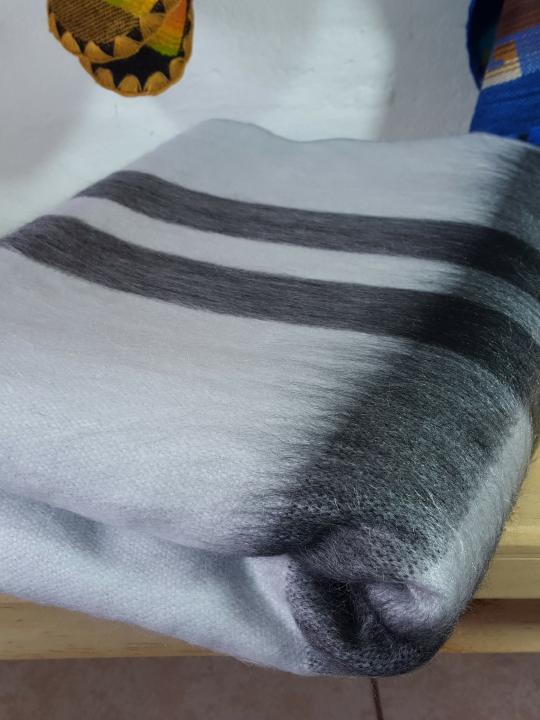 Alpaca Blanket Silver