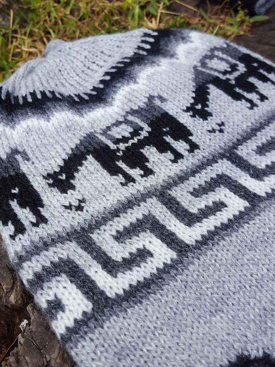 Beanie Alpaca Design Light Grey