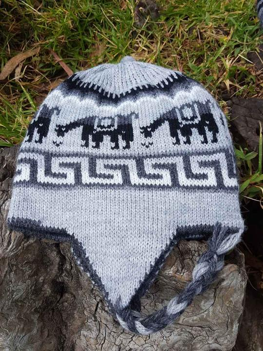 Beanie Alpaca Design Light Grey