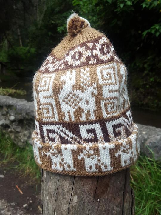 Beanie Andean Figure Dark-Brown