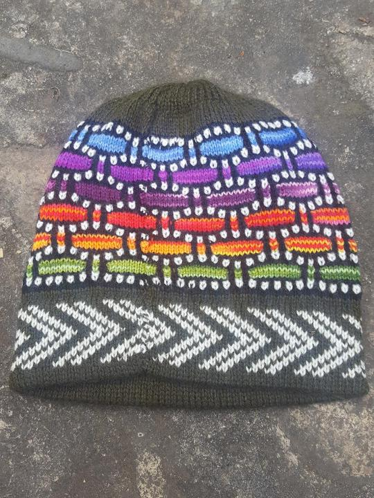 Beanie Edge Arrow Dark-Green