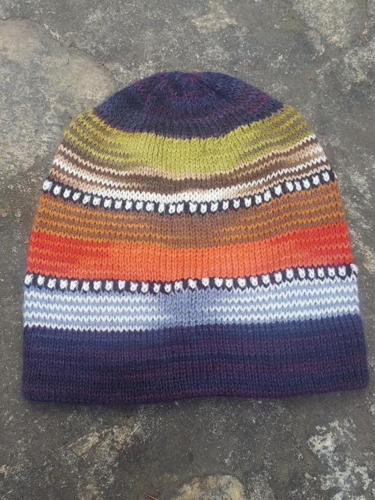 Beanie Stripes Purple