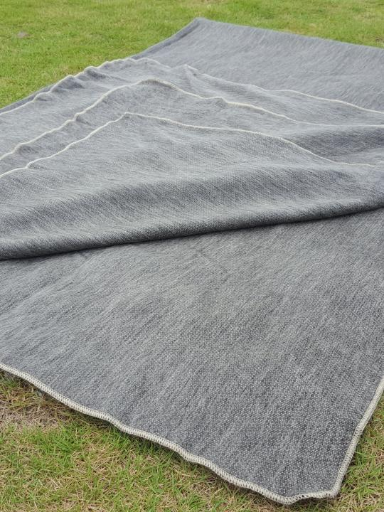 Alpaca Blanket Dark Beige- Earth Tone