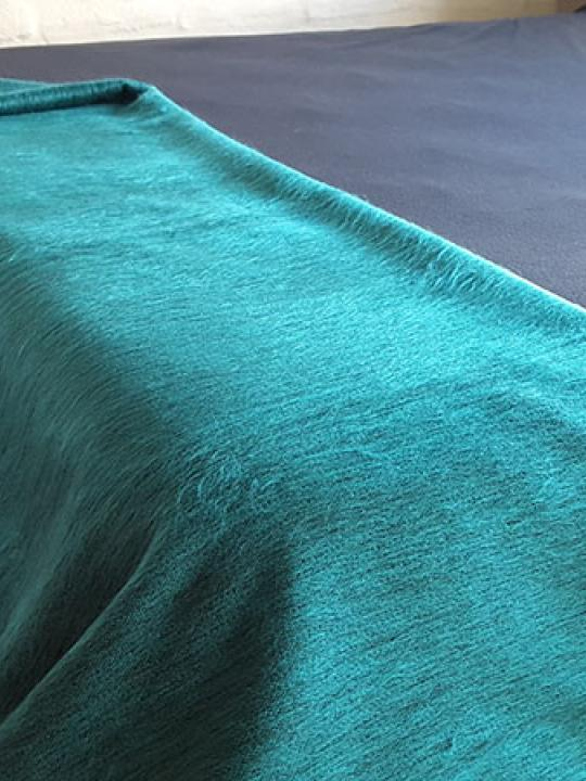 Alpaca Blend Blanket Green