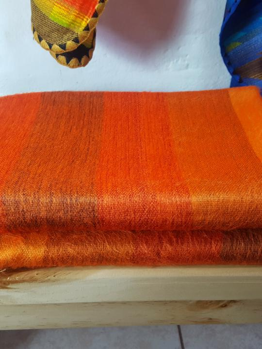 Alpaca Blanket Shutter Orange