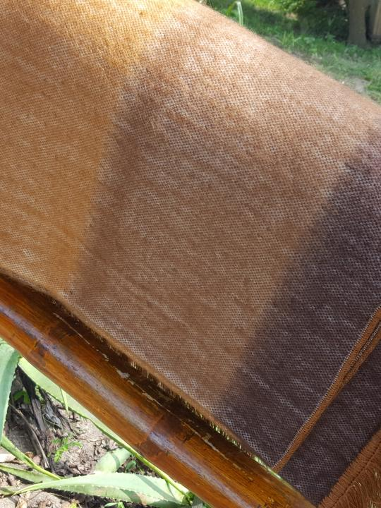 Alpaca Blanket Shutter Brown-Earth Tones Fringed Endings