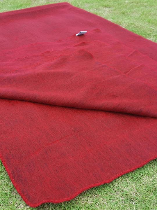 Alpaca Blanket/Throw Red