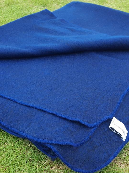 Alpaca Blanket/Throw blue