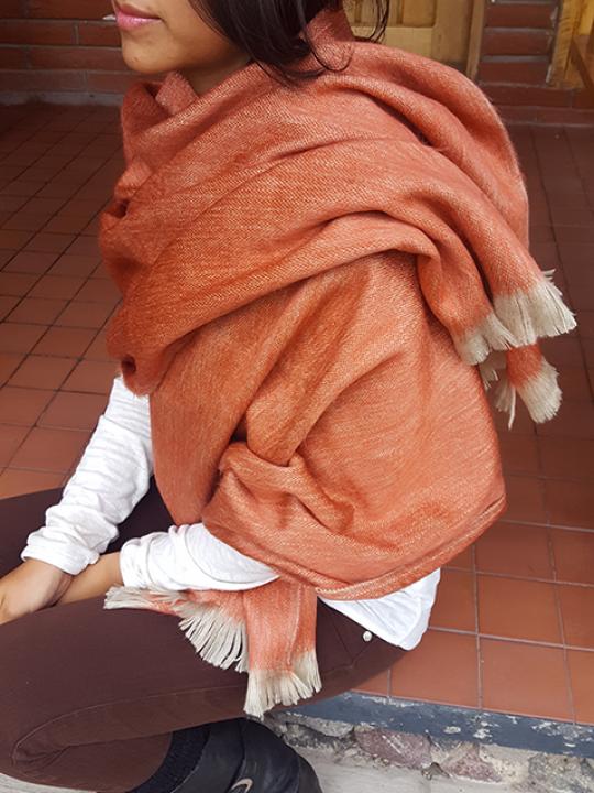 Alpaca Shawl Orange