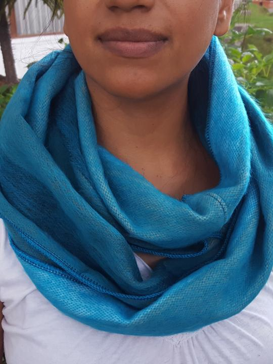 Alpaca Infinity Scarf Shutter Turquoise