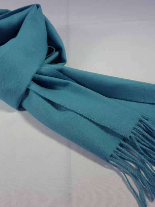 Alpaca Scarf, Warm, Light, Sky Blue, Fringed Endings, 100% Natural