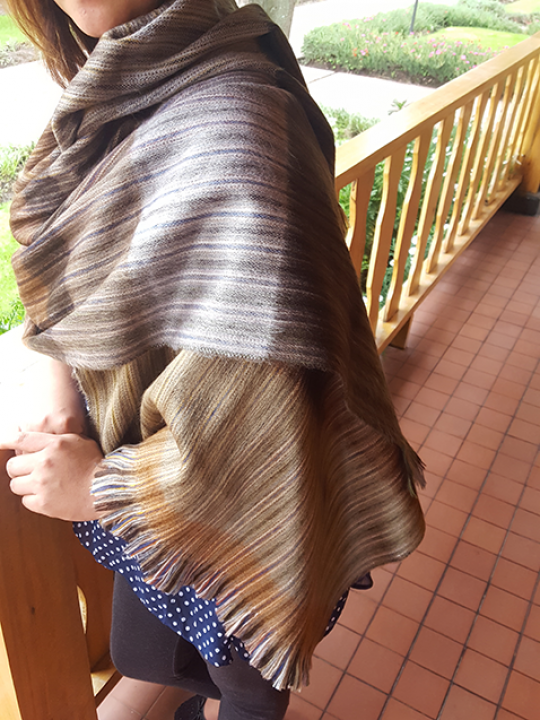 Alpaca Shawl Brown