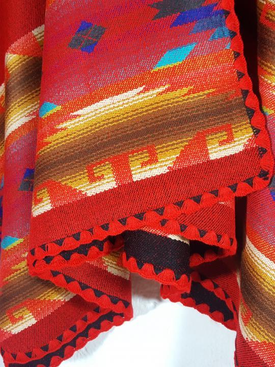 Alpaca Wrap Poncho Red