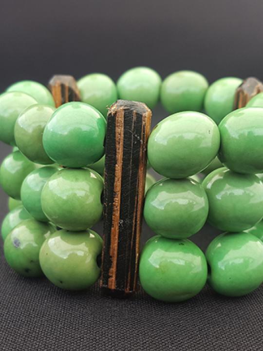 Bracelet Pambil-Chonta Apple Green