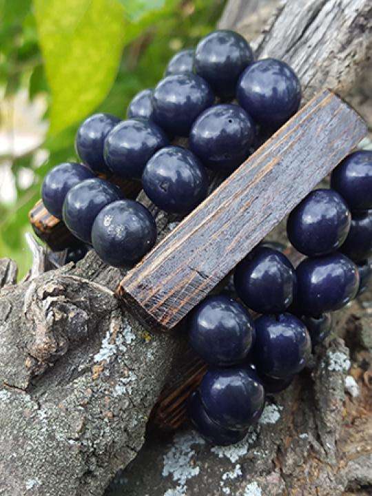 Bracelet Pambil-Chonta Dark Sky Blue