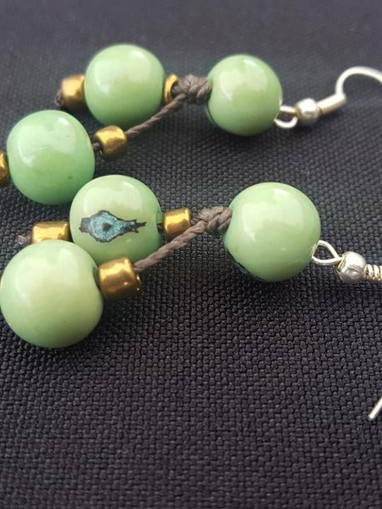 Earrings Acai Apple Green