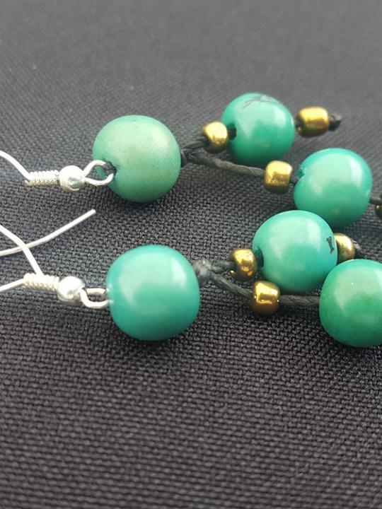 Earrings Acai Green Emerald