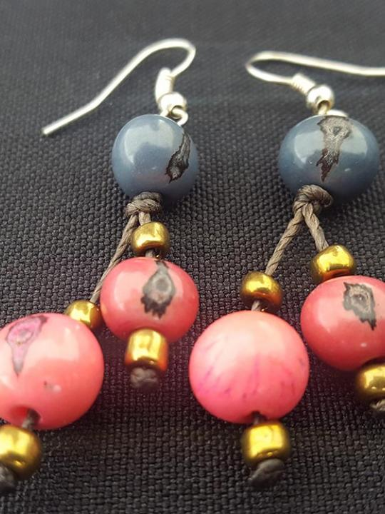Earrings Acai Pink-Blue
