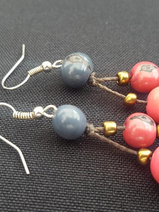 Earrings Acai Pink-Blue