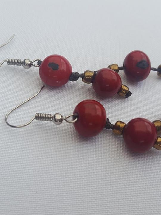 Earrings Acai Red-Wine