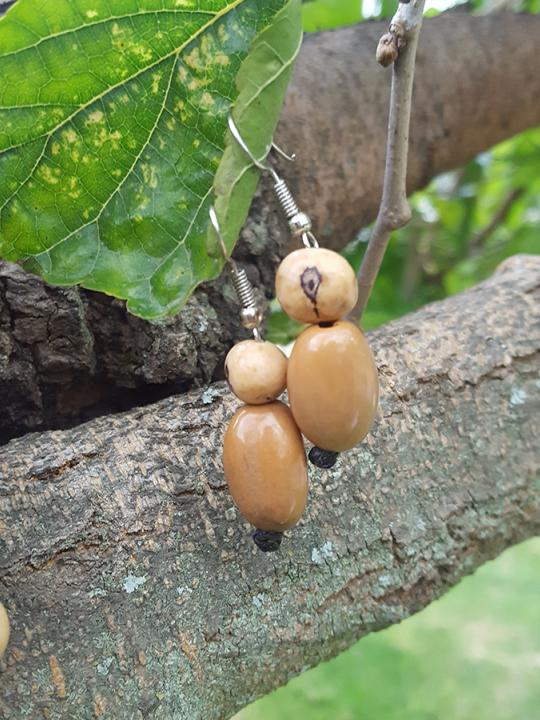 Earrings Camajuro-Acai Caramel