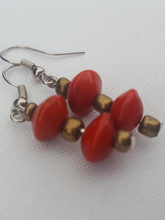 Earrings Huayruro Red