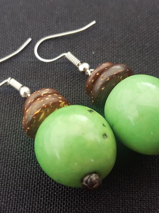 Earrings Pambil Apple Green