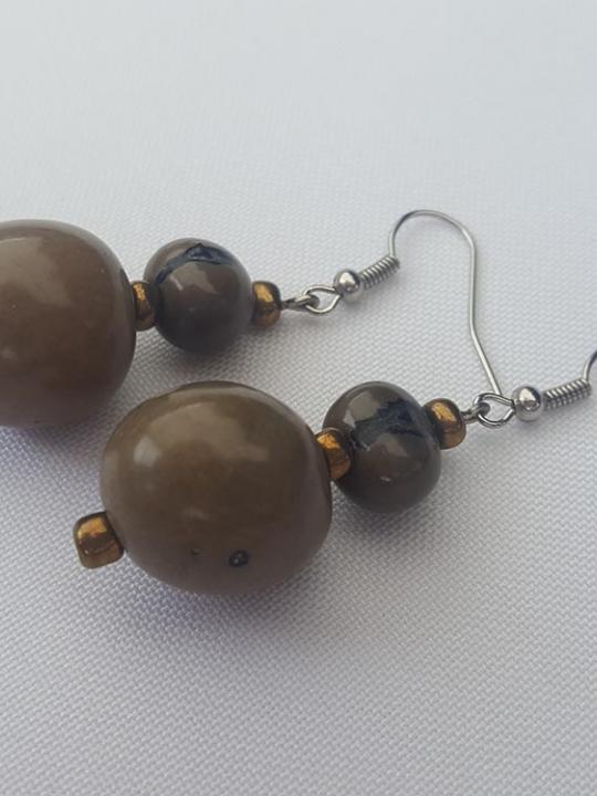 Earrings Pambil-Acai Earth