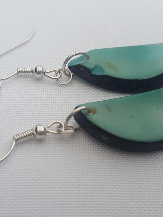 Earrings Tagua Turquoise