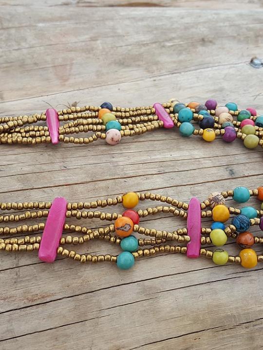 Necklace Acai-Chonta Multicolor