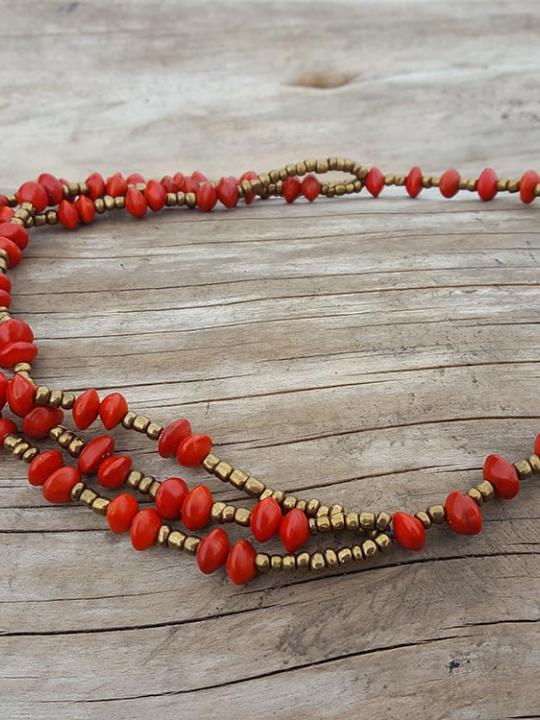Necklace Huayruro Female Red