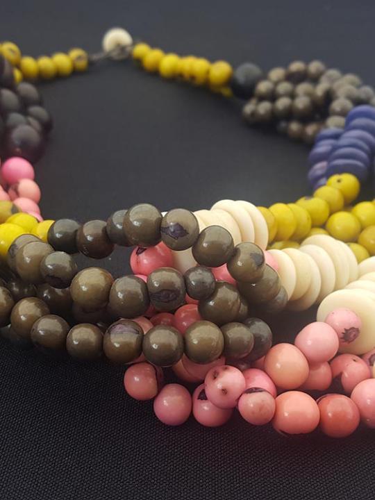 Necklace Jaboncillo-Acai-Tagua Multicolor