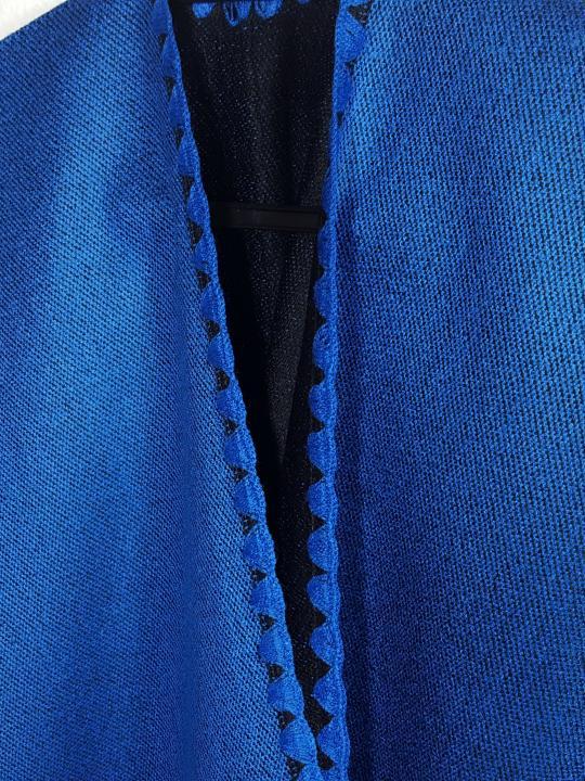 Alpaca Wrap Poncho Blue