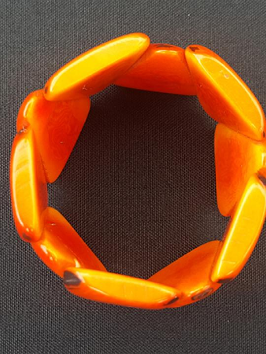 Bracelet Tagua Dark Orange