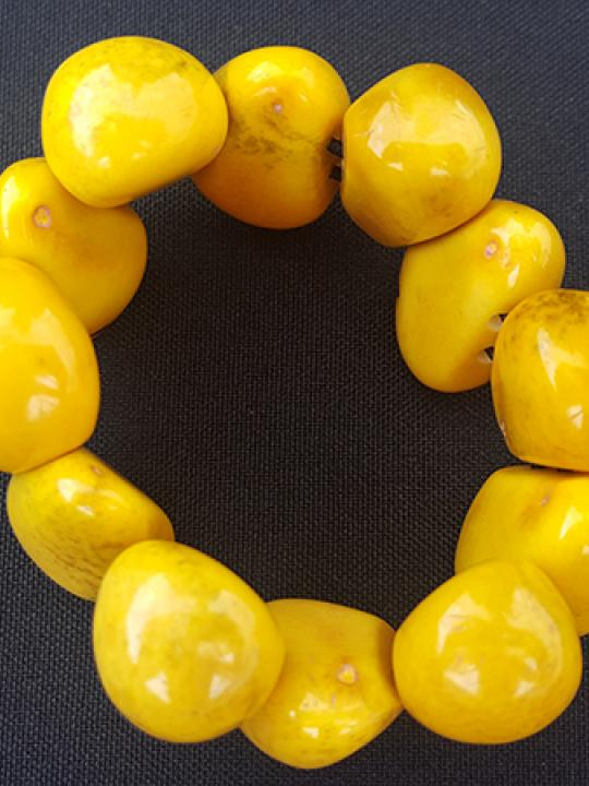 Bracelet Tagua Drop Chicon Dark Yellow