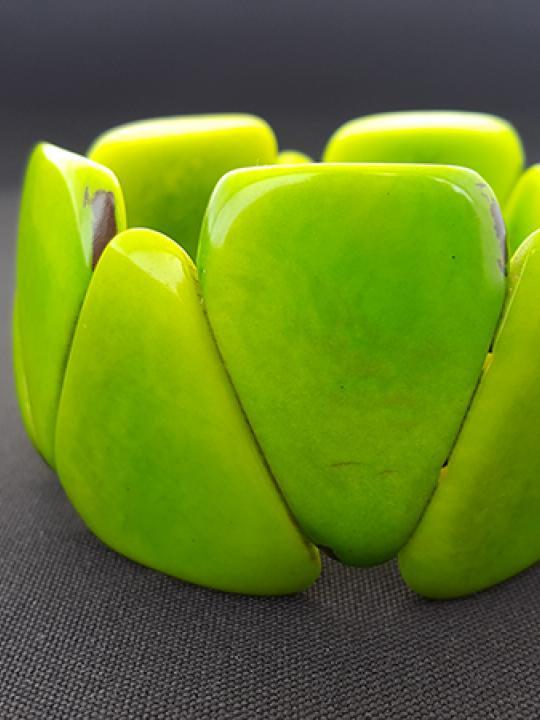 Bracelet Tagua Green Field