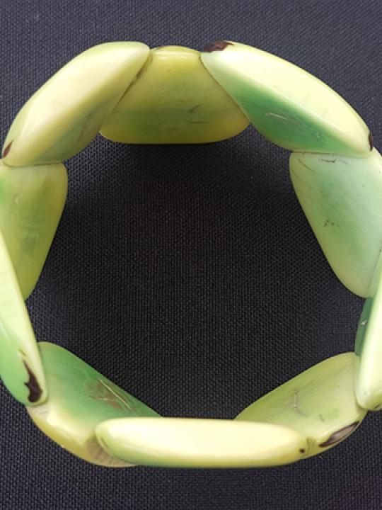 Bracelet Tagua Green Sea